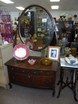 Vintage Dresser and Mirror in Cherry Point, North Carolina