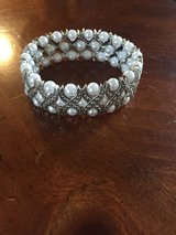 New Pearl and Rhinestone Stretch Bracelet in Glendale Heights, Illinois