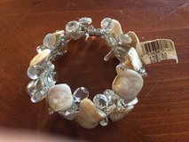 New Shell and Glass Bead Bracelet with Magnetic Closure (Retail $28.00) in Glendale Heights, Illinois