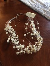 New Multi-Strand Pearl Necklace with invisible Cord - with Tags in Glendale Heights, Illinois