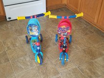 Paw Patrol and Blaze and the Monster Machines 3 wheel scooters in Fort Polk, Louisiana