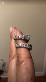 Wedding band and matching engagement ring in Savannah, Georgia