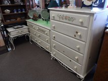 Bedroom set - 2 dressers, mirror & end table in Cherry Point, North Carolina