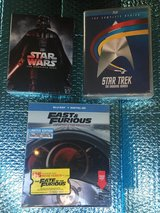 NEW - Fast & The Furious, Star Wars, Star Trek - Complete Series Blu-Ray & Digital in Baytown, Texas