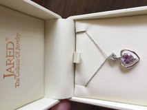 New! 10k white gold amethyst and diamond necklace in Warner Robins, Georgia