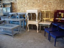 Tables; 4 pc bevelled glass coffee, (2) end & sofa table, accent, pairs & single end tables in Morris, Illinois