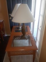 Side table with lamps in Savannah, Georgia