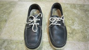 By Lagarto Men's Navy Leather Lace Up Boat Shoes Size 8 in Plainfield, Illinois
