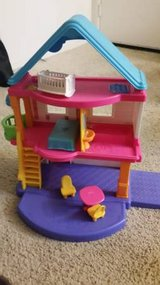 Fisher Price Dollhouse with dolls and accessories in Fairfield, California