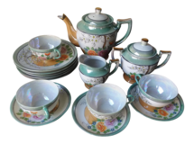 Hand Painted Japanese Luster Ware Porcelain Tea Set - 15 Pc in Kingwood, Texas