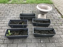 Planters  with soil + Free on the bottom pics in Ramstein, Germany