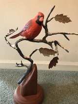 Hand-carved Cardinal in Algonquin, Illinois