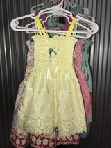Yellow lace dress for baby girl, 6-9 months in Camp Lejeune, North Carolina