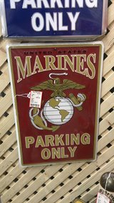 Marines parking only & Air Force parking only signs in Camp Lejeune, North Carolina