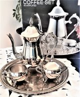 Coffee set with tray.Silver-plated New in Batavia, Illinois