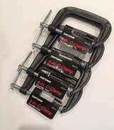 "New Craftsman Iron 4"" C-Clamps in Plainfield, Illinois"