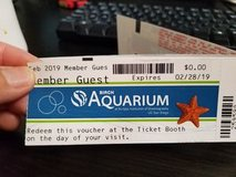 4 tickets to birch aquarium in Vista, California