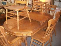 Hardwood Table w/ 6 Chairs [2 Captains] in Cherry Point, North Carolina