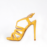 Yellow Strap Heeled Sandal in Ramstein, Germany
