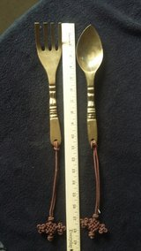Brass fork and spoon set in Alamogordo, New Mexico