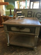 Gray side table with drawer, heavy in Fort Polk, Louisiana