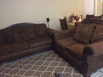 Brown couch and love seat in Camp Pendleton, California