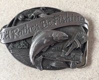 """I Rather Be Fishing"" Belt Buckle in Fairfield, California"
