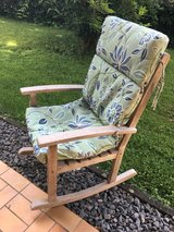 Wooden rocking chair with cushion FREE in Spangdahlem, Germany