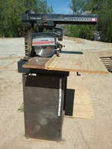 Radial arm saw in Yucca Valley, California