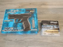 Airsoft CO2 Pistol - Walther P99 DAO 6mm BB Blowback CO2 & extra CO2 cartridges in Baumholder, GE