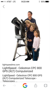 Celestron 800 telescope in Leesville, Louisiana