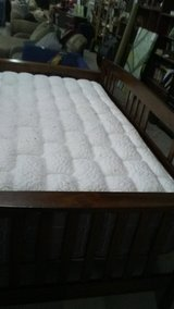 wood frame day bed with pillow top matt in Fort Polk, Louisiana