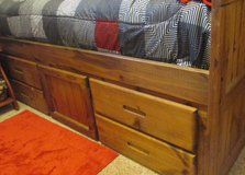 Boys Twin Captains Bed Bookcase Drawer Mattress Storage Honey and Dresser in Fort Campbell, Kentucky