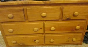Boys dresser w/ Mirror  Solid Pine Wood 5-Drawer Dresser in Honey in Pleasant View, Tennessee