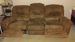 Tan couch and loveseat in Warner Robins, Georgia