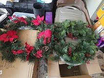 2 Christmas Wreaths in Fort Campbell, Kentucky