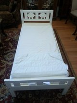 IKEA KRITTER Bed frame with slatted bed base, white in Fairfield, California