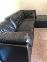 Black leather couch for sale! NEED GONE TODAY! in Fairfield, California