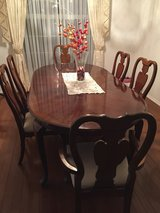 Cherry wood dining table for 6 in Nellis AFB, Nevada