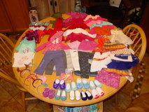 43 american girl brand clothing plus 9 pairs of ag shoes plus headbands in Fort Carson, Colorado