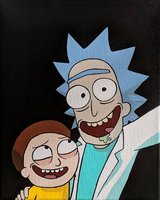 "Rick & Morty ""Selfie"" acrylic painting in Temecula, California"