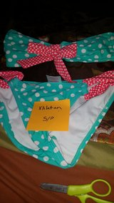 green polka dotted two-piece bathing suit in Fort Campbell, Kentucky