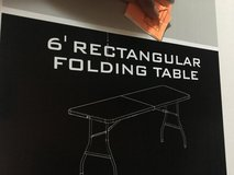 Rectangular folding table in Okinawa, Japan