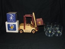 Morton Salt Collection Wooden Forklift Trivets Glasses Paper Pad in Plainfield, Illinois