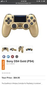 Two Gold PS4 controllers & Charging Station in Okinawa, Japan
