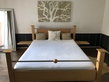 Real Beech wood bed for sale 160X200 cm in Grafenwoehr, GE