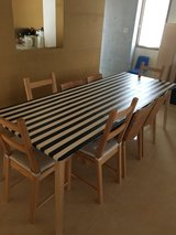 IKEA - dining table with 8 chairs in Okinawa, Japan