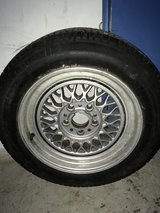 4 E32 BMW rims and tires. Great Deal! in Stuttgart, GE