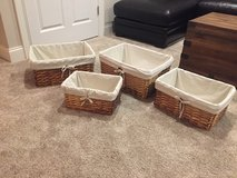 4 Wicker Baskets in Aurora, Illinois