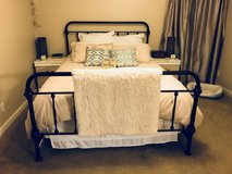 Queen Iron Bed Frame (antique bronze finish) in Fort Polk, Louisiana